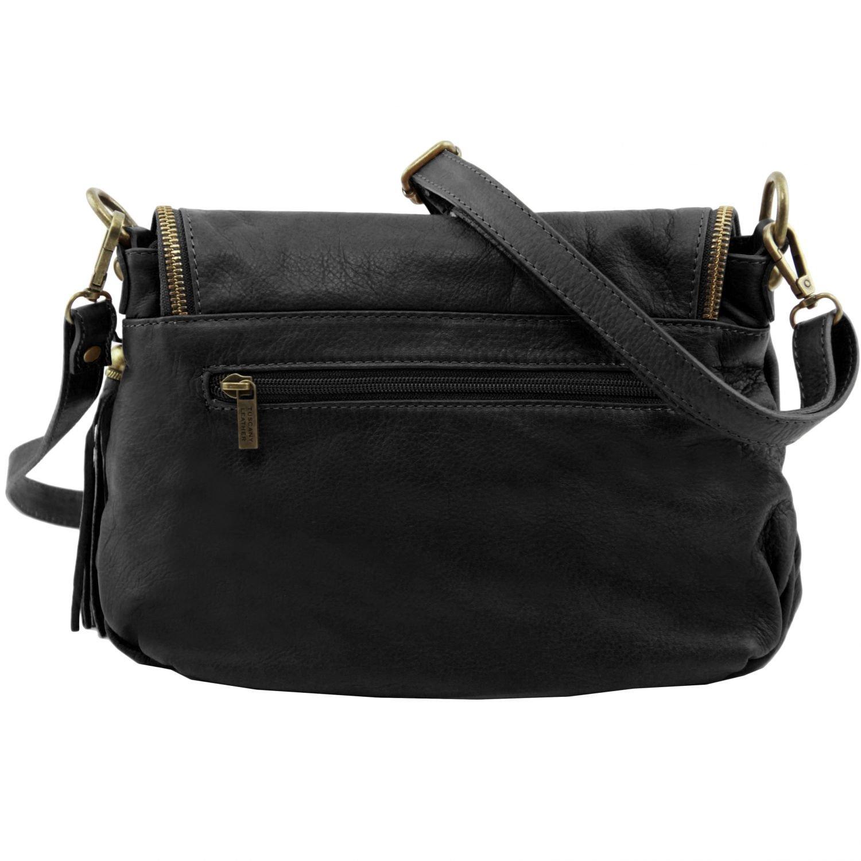 Amazon.com  Tuscany Leather - TL Bag - Soft leather shoulder bag with tassel  detail Black - TL141223 2  Fendess. 1e430cae291b6