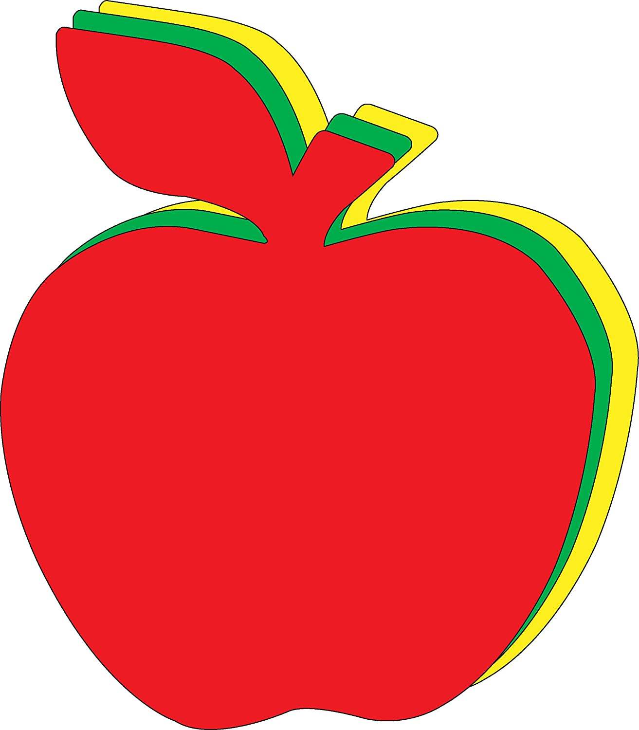 """8"""" x 10"""" Apple Tri-Color Super Cut-Outs, 15 Cut-Outs in a Pack for Fall, Harvest, Autumn Crafts, Back to School, Kids' School Craft Projects"""