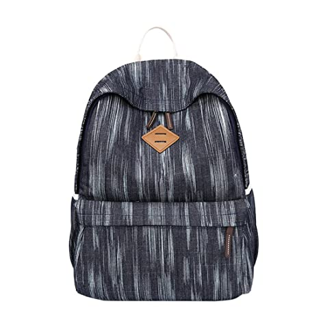 131e08cd955d Amazon.com: EA-Stone Teen's Canvas Backpack with USB Charge ...