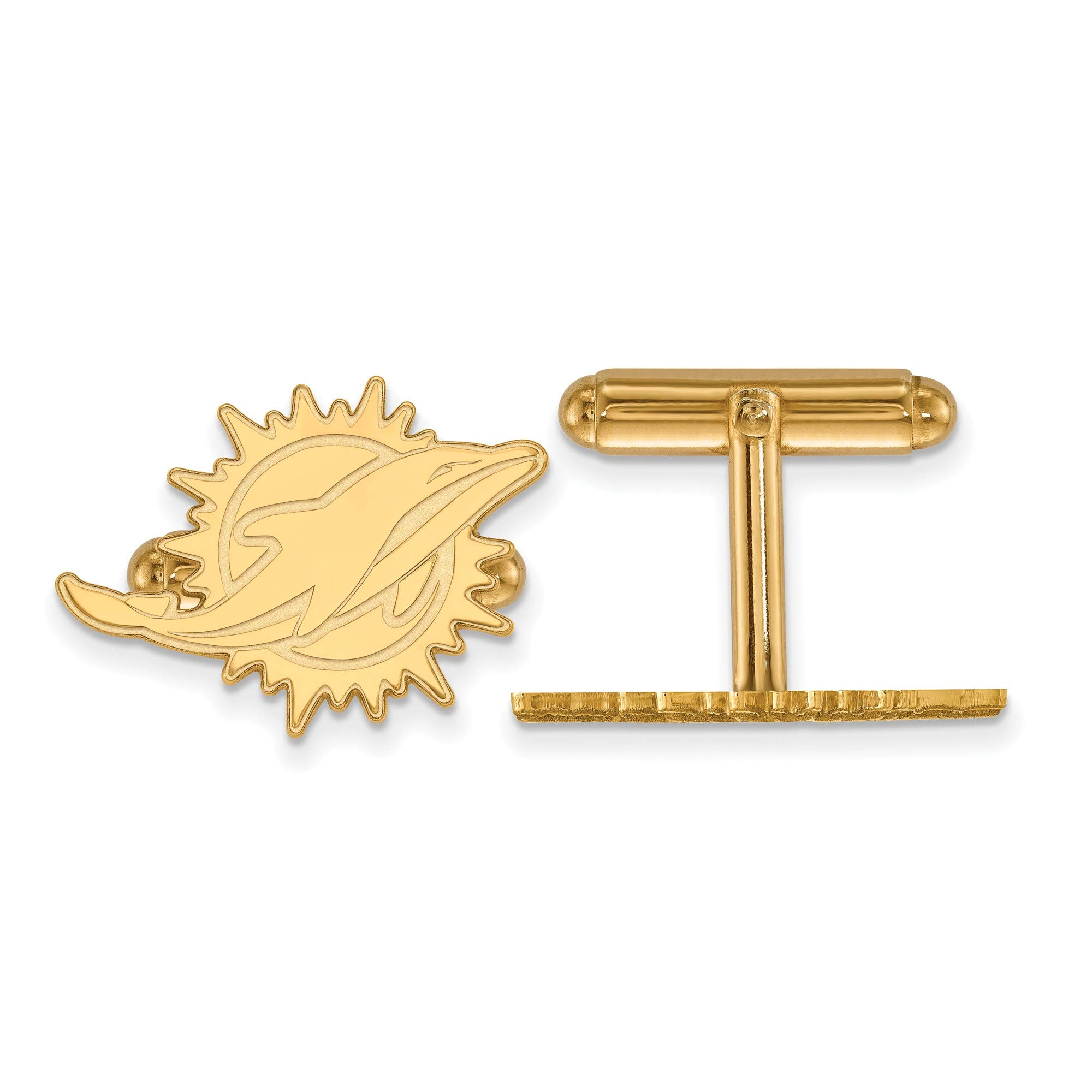 Kira Riley Gold Plated Miami Dolphins Cuff Link