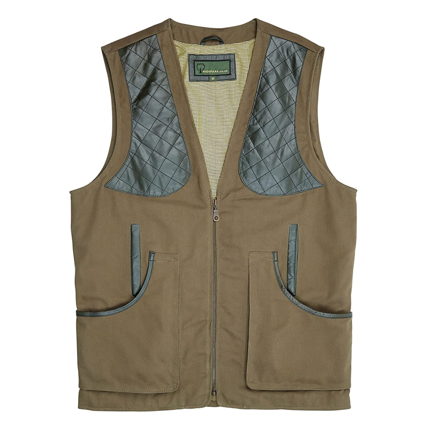 002C: Cotton Shooting Vest Green