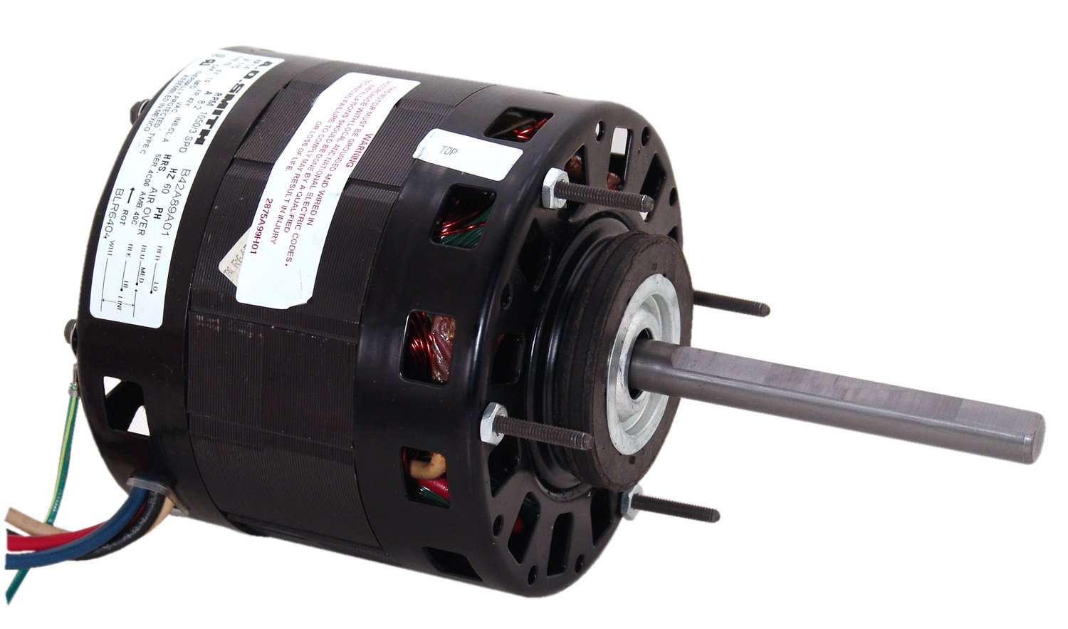 115-Volt 1050-RPM 9.4-Amp and Sleeve Bearing 1//4-HP Century BLR640S Blower Motor with 5.0-Inch Frame Diameter