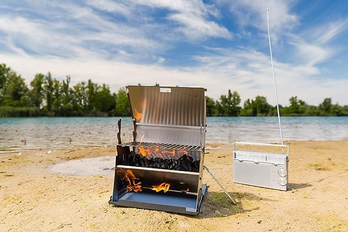 Bester Kleiner Holzkohlegrill : Fennek portabler outdoor grill i mobiler holzkohle grill für outdoor
