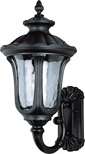 Trans Globe Lighting Trans Globe Imports 5912 BK Traditional One Light Wall Lantern from Knolls Collection in Black Finish, 22-3 4-Inch