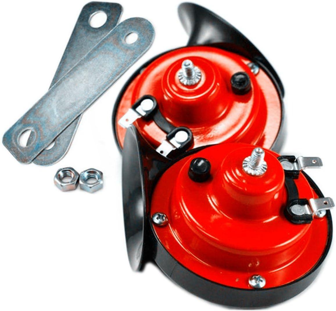 Bocina de aire, con forma de caracol, sonido fuerte, 12 V, 110 dB, doble tono, universal, para coches, camiones, 4x4 y furgonetas