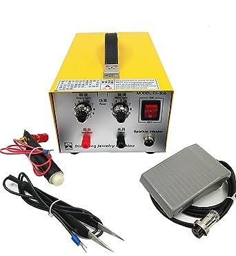 CGOLDENWALL Pulse Sparkle Spot Soldadura Máquina Herramienta de Soldadura Joyería Collar Oro Plata Platino Procesamiento 110V