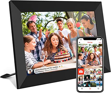 MAODATOU Digital Photo Frame 10 Inch Digital Picture Frame 1280800 Pixels High Resolution Smart Electronic Frame Auto On//Off Timer Remote Control Included Color : White, Size : 10inch