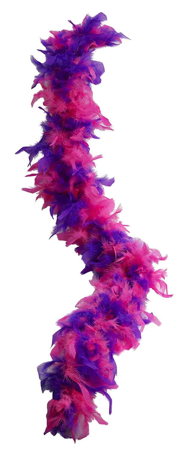 Forum Novelties Women's 55-Gram Feather Boa, Pink/Purple, One Size Forum Novelties Costumes 70466