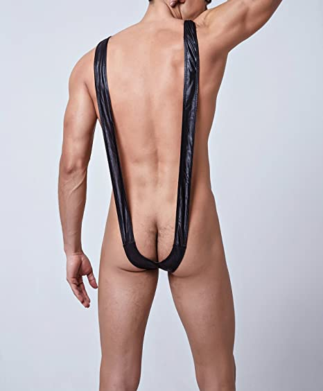 678752c3e66ac Amazon.com: Rebicoo Men's Borat Mankini Swimsuit Thong Halloween Costume  Christmas Gift Deep-v Neck Sexy Lingerie for Romatic (Set of 1)  Re-041002Black: ...