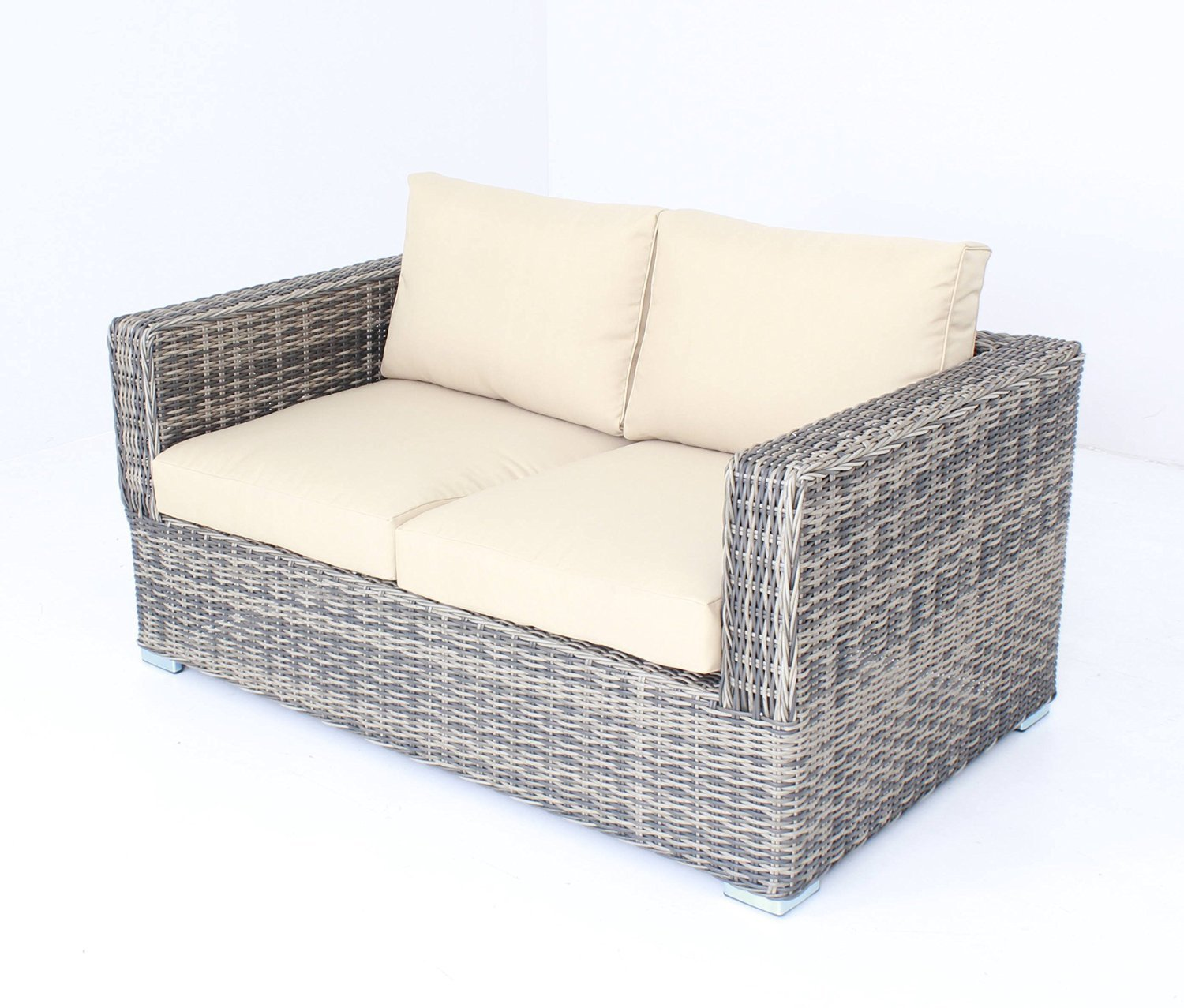 Amazon: Outdoor Patio Sofa Sectional Wicker Furniture 5pc Couch Set:  Kitchen & Dining