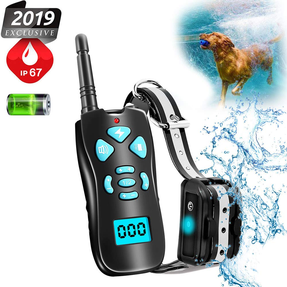 Shock Collar for Dogs,Dog Shock Collar with 1800 Ft Remote, Waterproof Dog Training Collar Included Beep Vibration Shock Modes, Rechargeable Electronic Collar for All Size Dogs