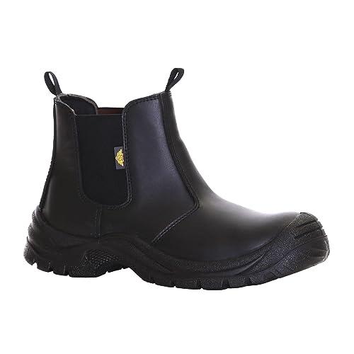 Slimbridge Goslar Botas de Seguridad de Acero Dedo del pie Tamaño 45, Negro: Amazon.es: Zapatos y complementos