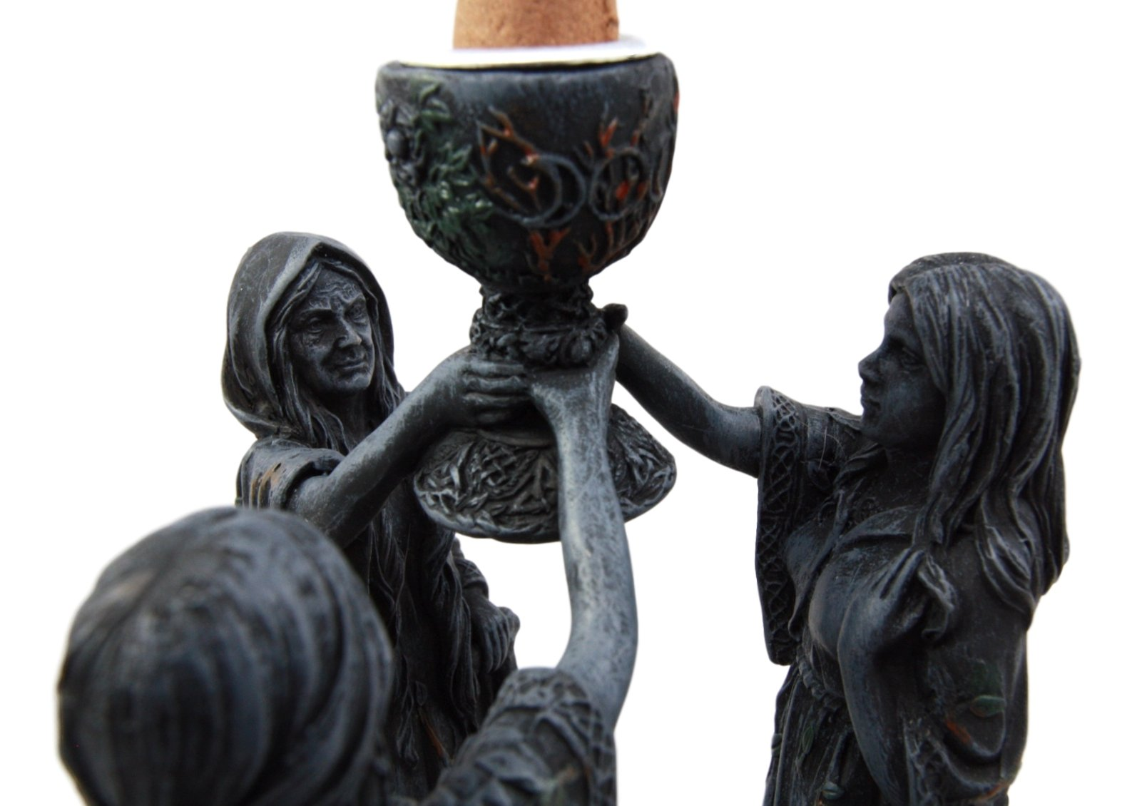Atlantic Collectibles Wiccan Triple Goddess Maiden Expectant Mother & Crone Pagan Decorative Backflow Incense Cone Burner Figurine by Atlantic (Image #5)