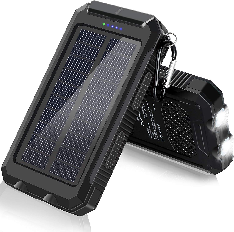 with 2 Led Flashlight and 2 USB Output Ports Portable Solar ...