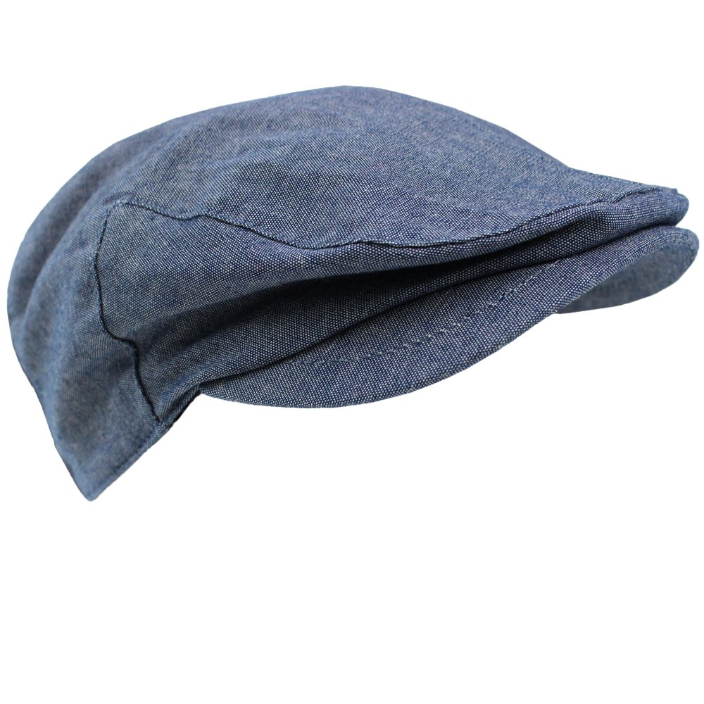 juDanzy Baby & Toddler Plaid Cabbie Hats (6-12 Months, Swanky Chambray)