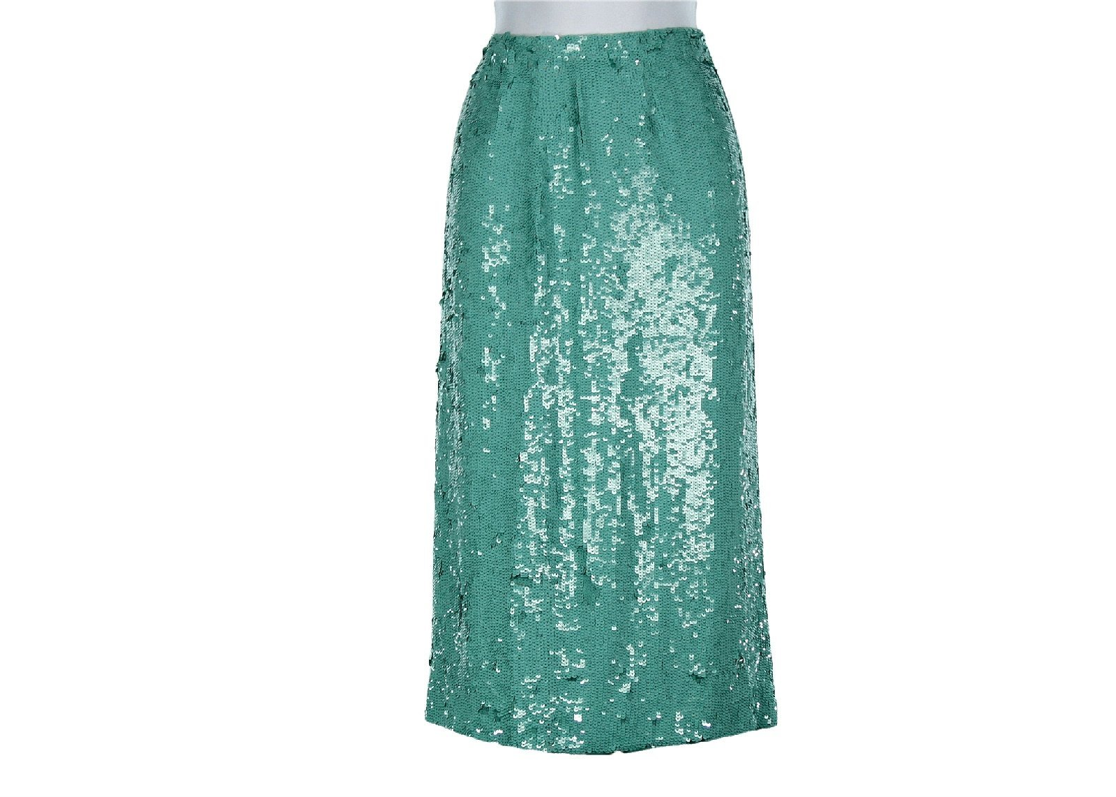 J Crew Collection No. 2 Pencil Skirt In Sequins Sz 2 Style# 52186 Soft Mint