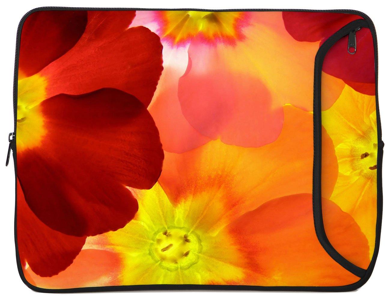 Designer Sleeves Spring Flower Sleeve for 10-Inch iPad/Tablet, Orange (10DS-SF) by Designer Sleeves (Image #1)