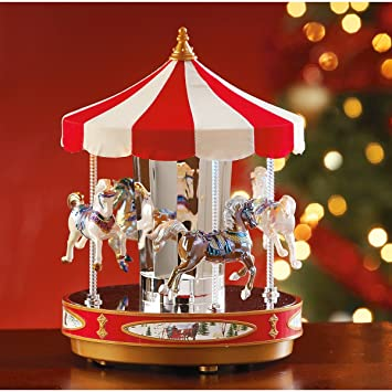 amazoncom mr christmas grand carousel home kitchen - Christmas Carousel Decoration