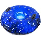HITOP Snow Tube, Inflatable Snow Sled for Kids and Adults, Heavy Duty Snow Tube Made by Thickening Material of 0.9mm…