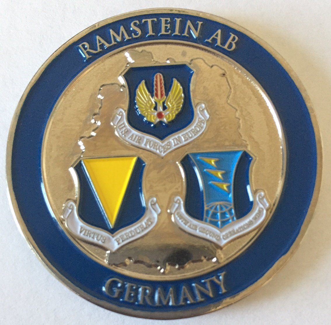 Ramstein Air Base Challenge Coin B01LYFKJRZ
