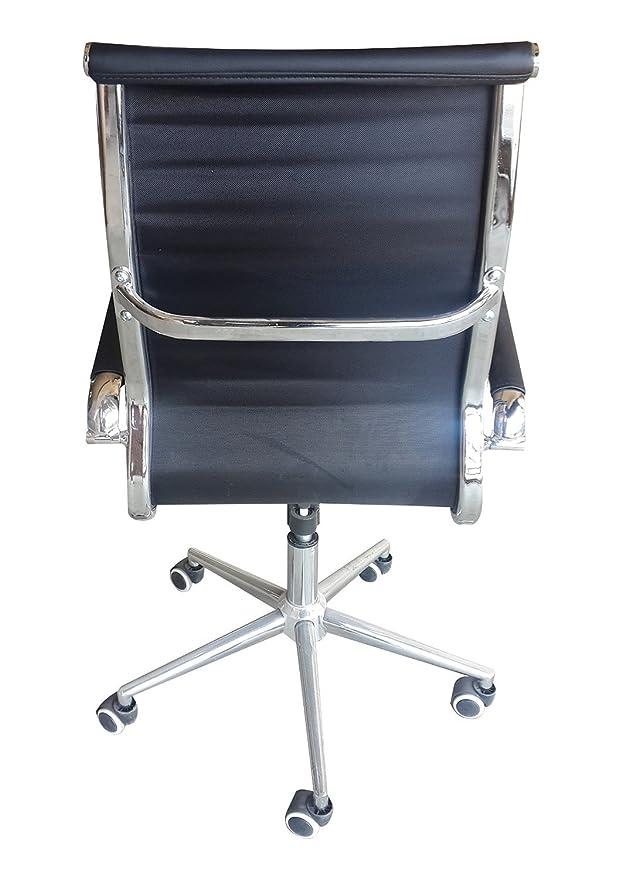 Réplica de Eames silla de oficina respaldo alto negro ...