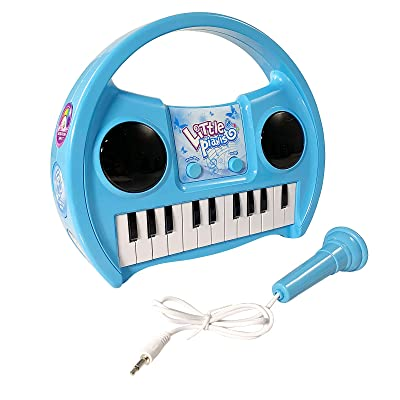 KidPlay Products Little Pianist Singing Musical Karaoke Lights Up Keyboard: Toys & Games