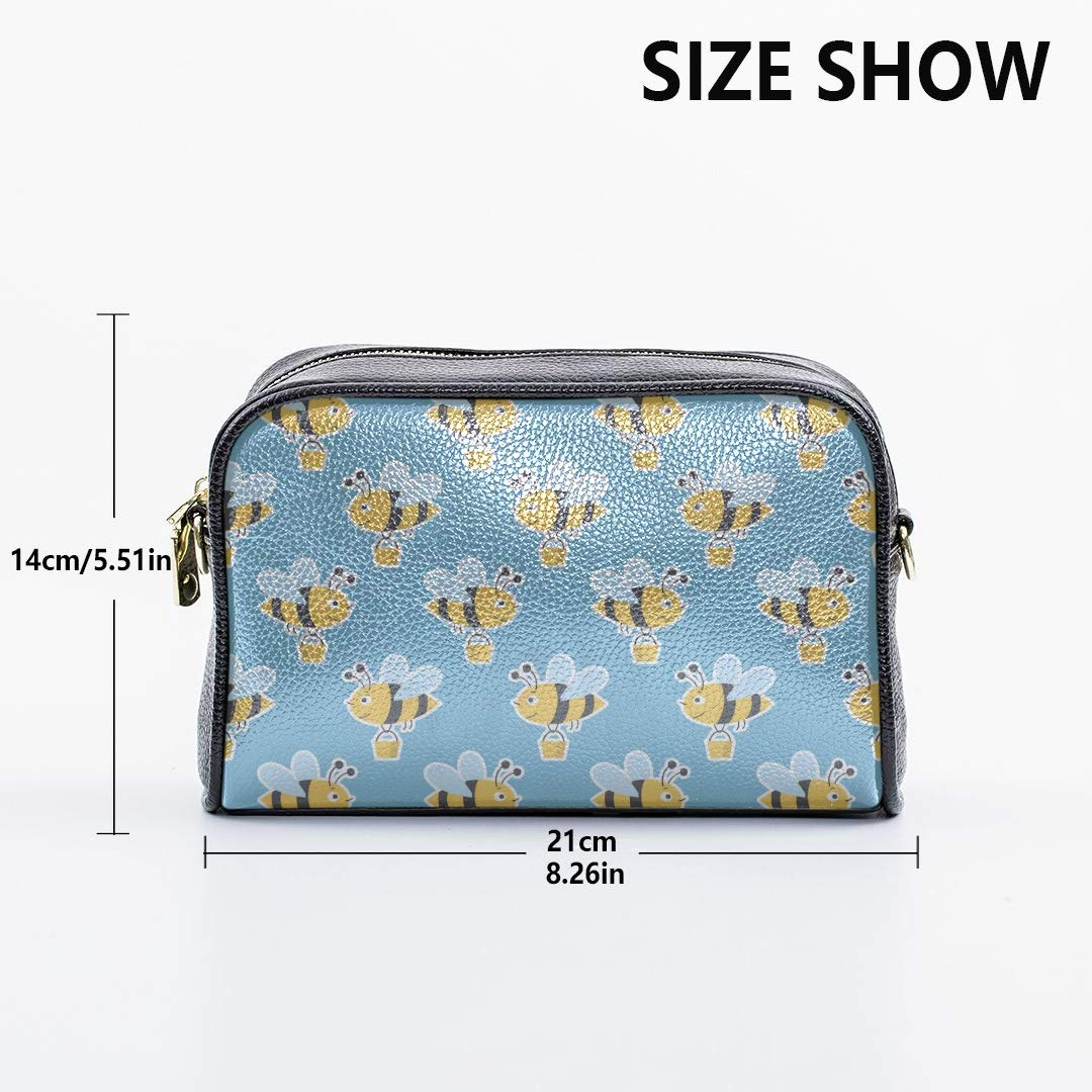 Cartoon Doodle Cute Bees Fashion School Bags For Girls Fashionable Beach Bag With Adjustable Long Strap Messenger Crossbody Bags For Women New Fashion Bags Over The Shoulder Bags