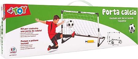 Globo - Meta da Calcio con Sfera/Pompa, per Bambini, Unisex