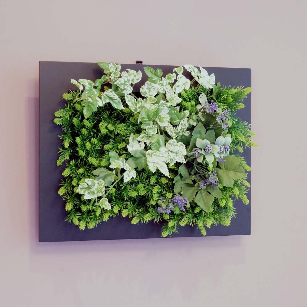 壁面グリーンフレームフレッシュアイビーブラック(光触媒)造花観葉植物インテリアグリーン B01HNSN774