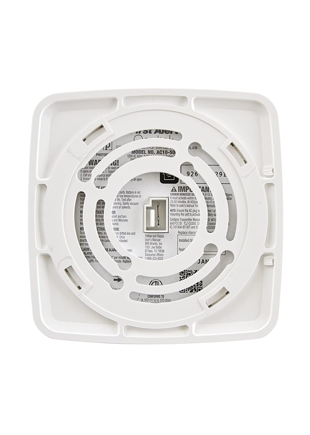 Onelink Wi-Fi Smoke + Carbon Monoxide Alarm, Hardwired, Apple ...