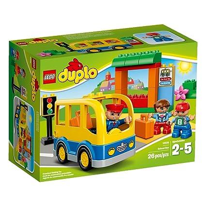 Amazon.com: LEGO DUPLO Town School Bus 10528 Building Toy: Toys & Games