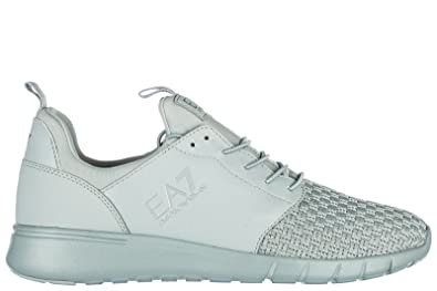 dbe3f38a78e Emporio Armani EA7 Chaussures Baskets Sneakers Homme Gris  Amazon.fr ...