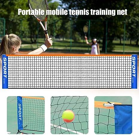faltbares Tennisnetz f/ür Kinder und Erwachsene mobiles Tennisnetz 6 m tragbares ohne Stange KYLMET 3 . kurzes Tennisnetz f/ür drinnen und drau/ßen
