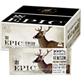 EPIC Venison Sea Salt & Pepper Bars, Whole 30, Keto Friendly, 12Ct Box 1.5oz bars