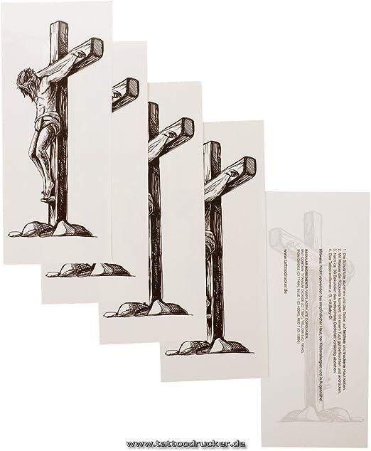 Jesús Cristo Cruz Tattoo – Negro Cruz Tattoo, negro, 1 x ...