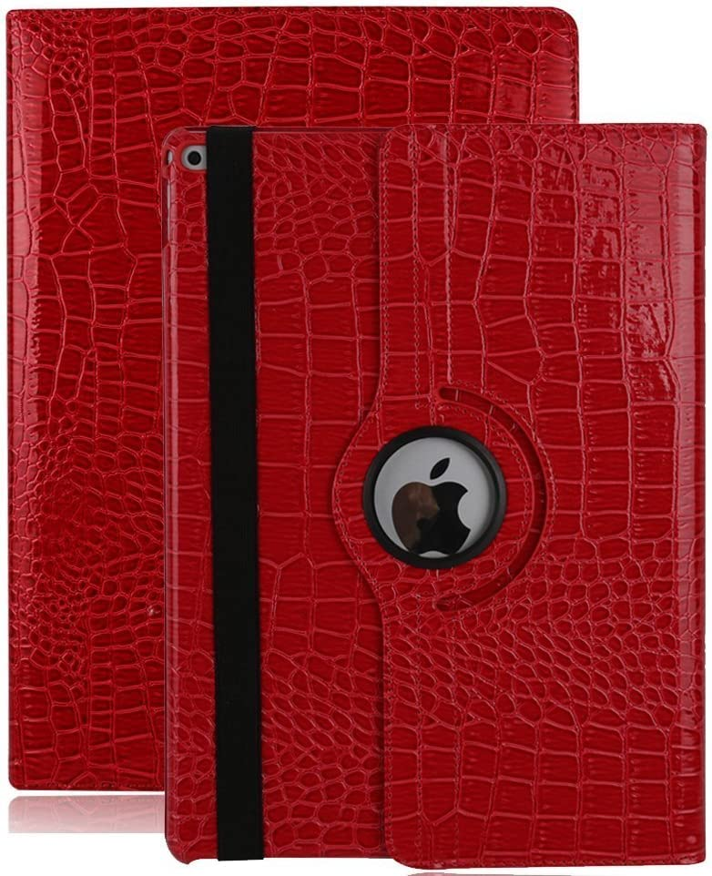 Dream Wings New iPad Pro 12.9 2017 Case Cover, 360 Degrees Rotating Multi-Angle Viewing Stand Screen Protective Smart Case for Apple iPad Pro 12.9 inch 2017 Released Tablet (iPad Pro 12.9 2017, Red)