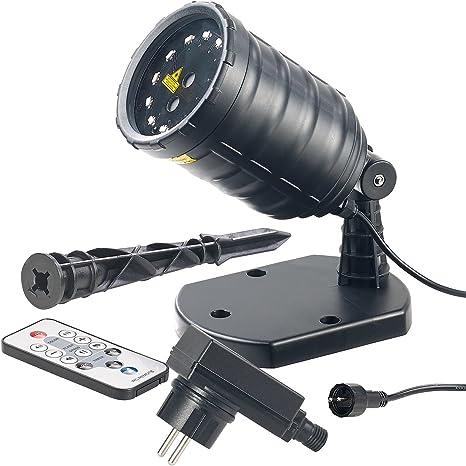 Lunartec Star Shower: Laser Projektor mit Sternenregen