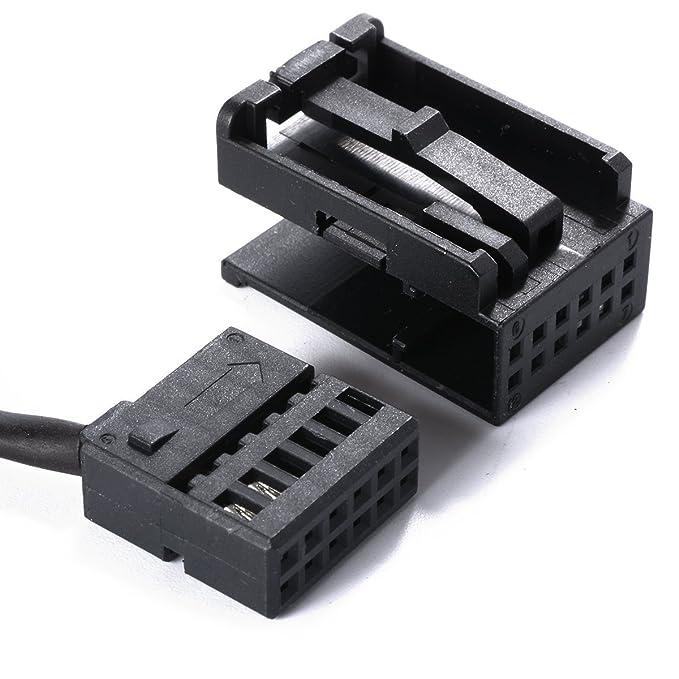 XCSOURCE para Ford Focus Mondeo Llaves de extracción + 6000CD AUX IN Adaptador Kabel AC225: Amazon.es: Electrónica