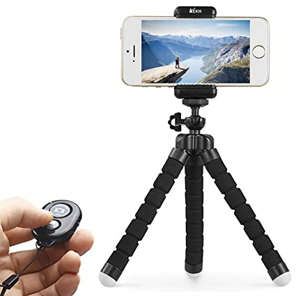 KEKH Phone Tripod,Portable And Adjustable Tripod Stand Holder With  Bluetooth Remote For IPhone,
