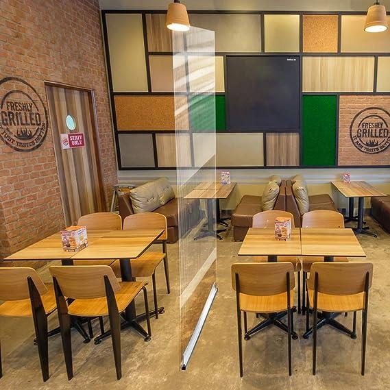 Mampara de protección | separador para restaurantes, bares, hosteleria (150x150cm): Amazon.es: Oficina y papelería