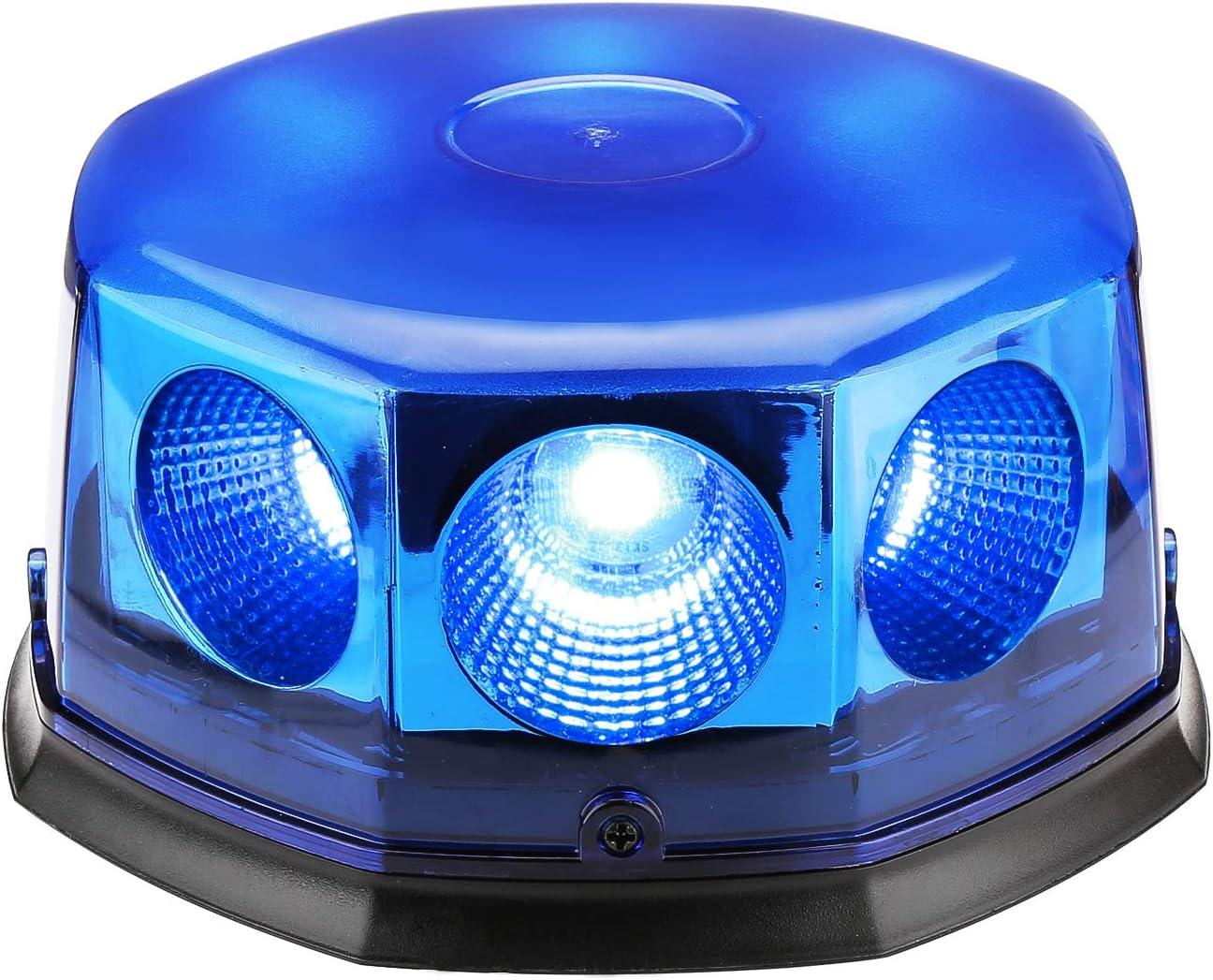 Appow 40 W COB LED Luces de luz Estroboscópica con Base magnética para Coche Barco Techo, 12 – 24 V, 14 Patrones de Parpadeo (Azul)