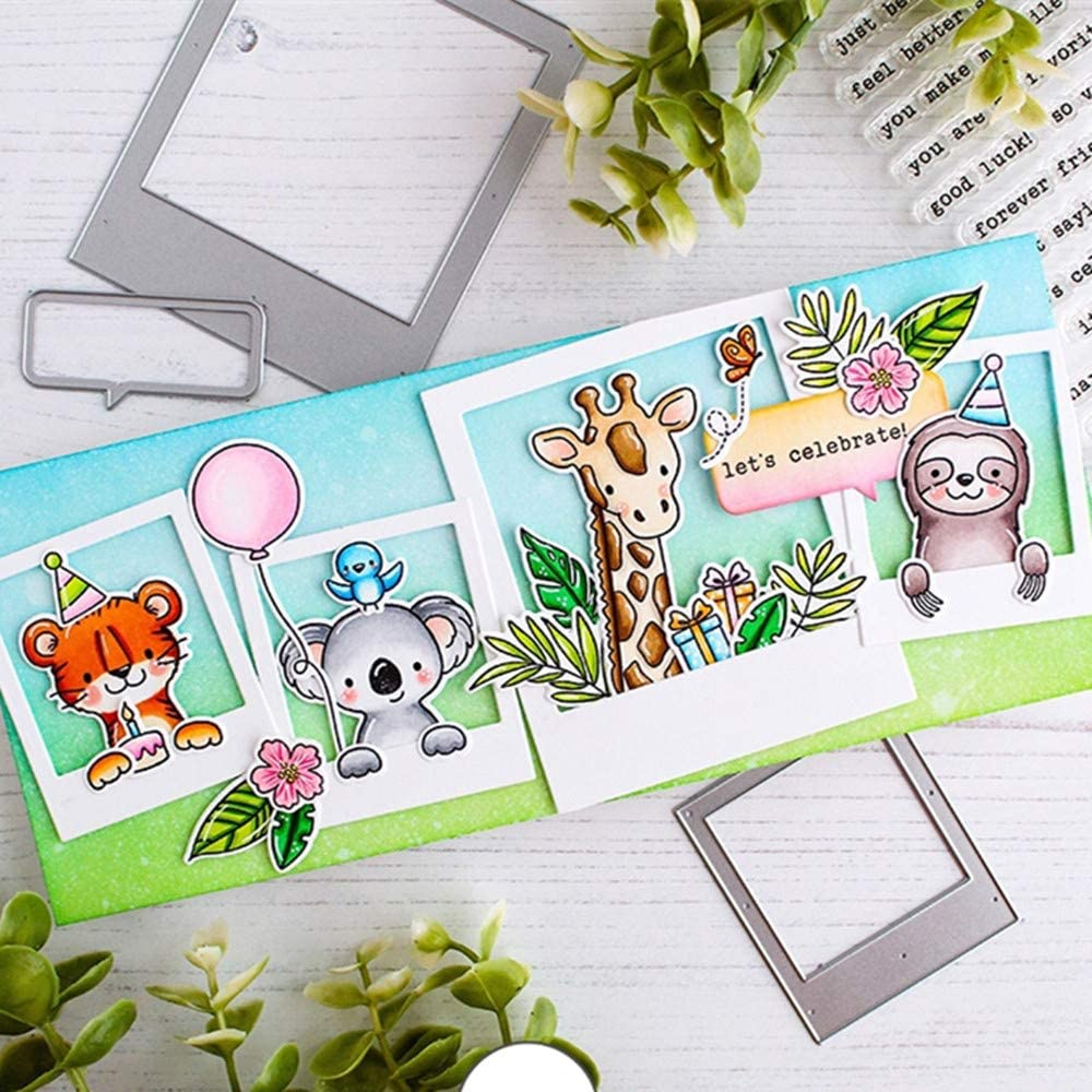 Animal Family Clear Stamp and Dies for Scrapbooking Card Album Making Stencil Metal Die Cut Dies and Stamps Sets