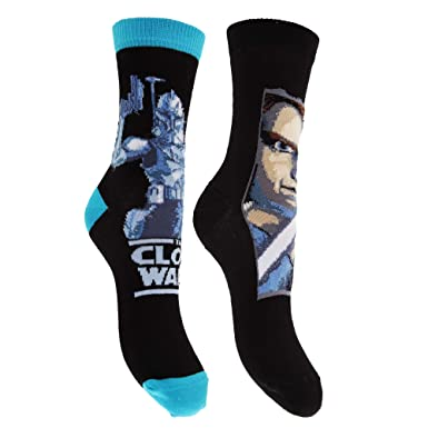 Star Wars- Calcetines de algodón con estampados de La guerra de las galaxias para niños