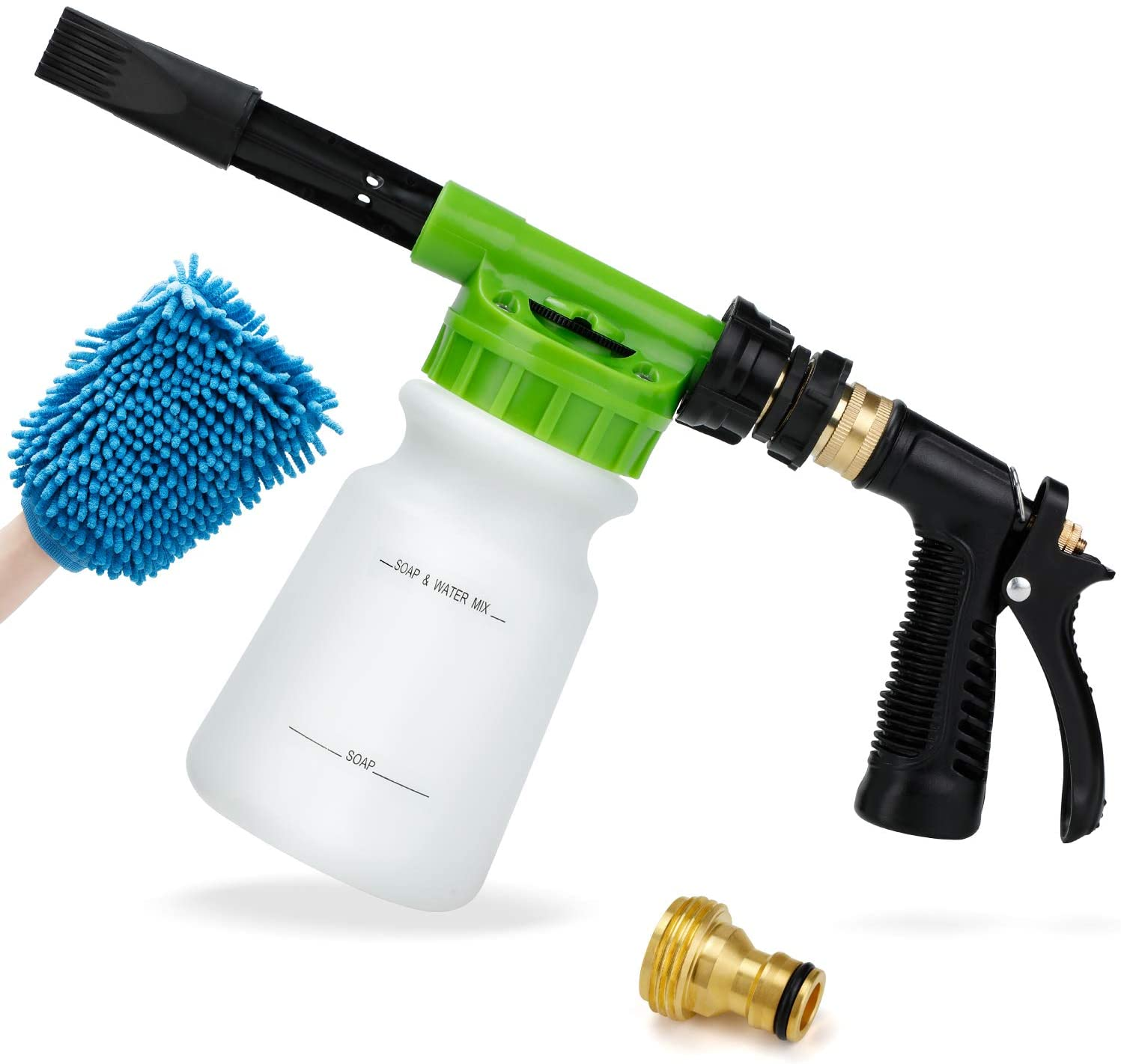 Ohuhu Car Wash Foam Gun for Garden Hose, Car Wash Soap Sprayer with 3/8