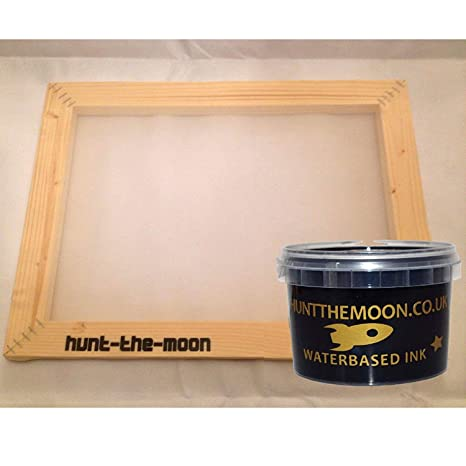 tama/ño mediano A4 77t Hunt The Moon Marco de madera para impresi/ón