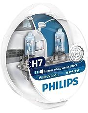 Philips WhiteVision 12972WHVSM   - Bombilla Para Faros Delanteros (Efecto Xenon H7), Pack 2 Unidades