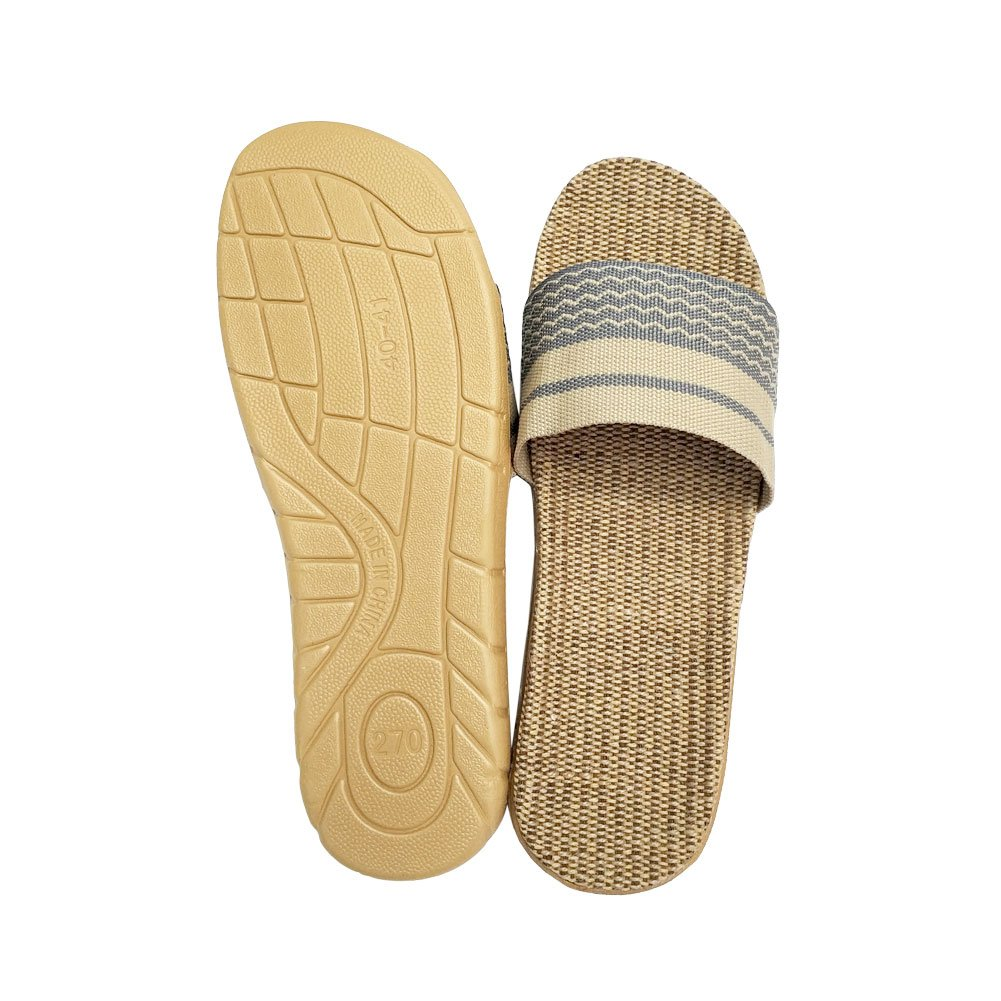 HRFEER Home Slippers Women Linen Indoor Shoes Men Beach Slipper Silent Flip Flops for Women Sandals by HRFEER (Image #5)