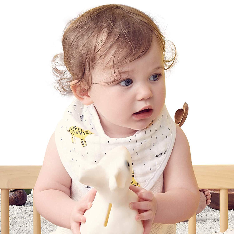Amazon.com   Bebamour Soft Baby Bandana Bib Muslin Cotton Super Absorbent  Adjustable Drool Bibs for Infant  Toddler 9