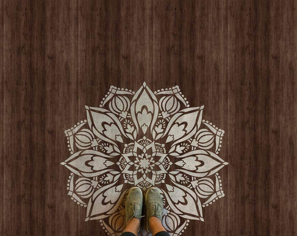 Boho Chic Paisley Wall Stencils for Painting Bohemian Style Wall Decal Decor Colorful DIY Mural Indian