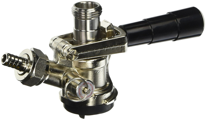 Kegco KC KT85D-L Beer Keg Coupler D System Tap Lever Handle, Black (Pack of 2)